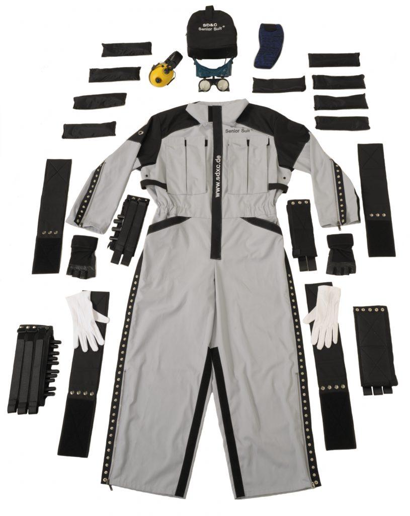 Explosion Picture for the SD&C Senior Suit Delta Age Simulation Suit