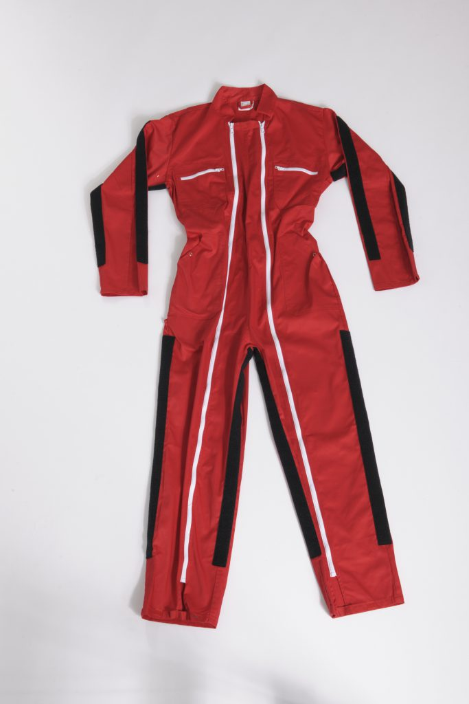 Senior Suit Beta 3 jumpsuit with stripes